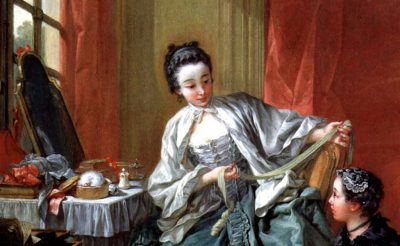 Lady at her desk by Boucher